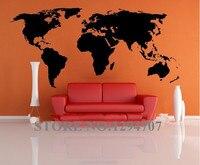 1 PCS 200x90cm Best Selling Big Global World Map Vinyl Wall Sticker Home Decor Wallpaper Creative