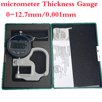 New high precision digital micrometer precision Thickness Gauge 0 12.7mm / 0.001mm paper/film/fabric /tape thickness measurement