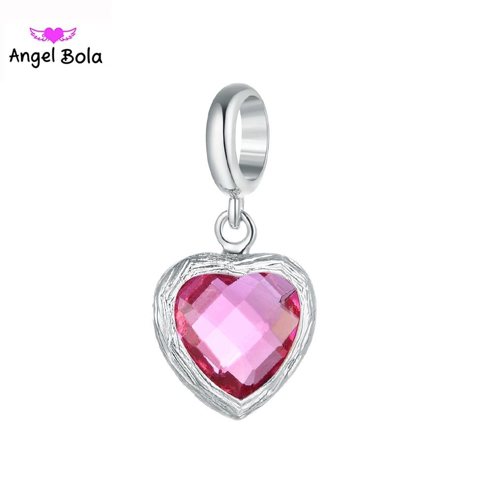 10Pcs/lot High Quality DIY Bracelet Charms Heart Glass Charm Pendant Fit Stainless Steel Magnet Buckle Bracelet EP-126