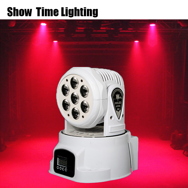 High Bright Dj Led Mini Moving Head Light 7pcs Rgbw Led Stage Effect Use For Dj Bar Club Disco Home Entertain Wash Background