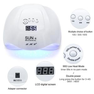 Image 3 - LKE SUNX 48/54W UV מנורת LED מייבש עבור כל פולני ג לי עם אינפרא אדום חישה 10s/30s/60s טיימר חכם מגע כפתור