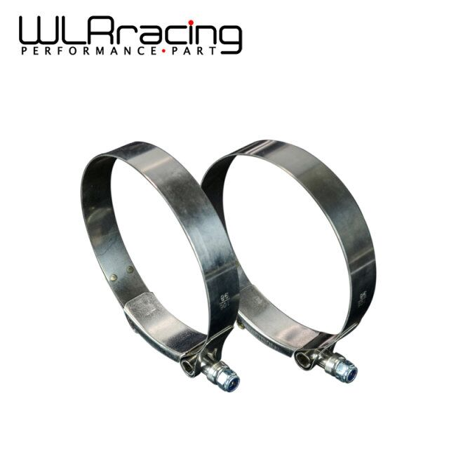WLR RACING - (2PC/LOT) 3.75 CLAMPS (98- 106)STAINLESS SILICONE TURBO HOSE COUPLER T BOLT CLAMP KIT HIGH QUALITY WLR5257
