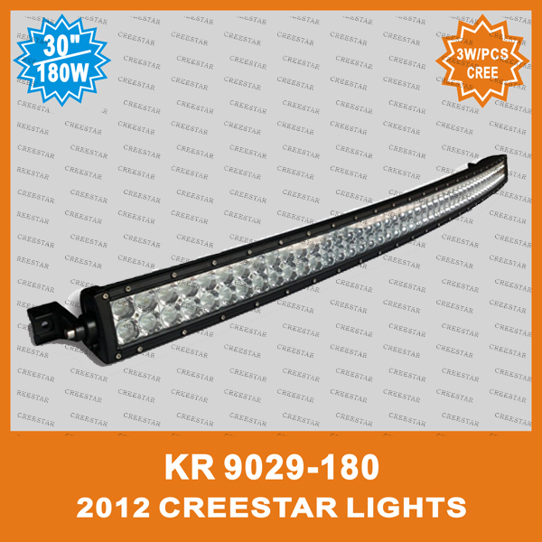 2014good feedback offroad lighting bar truck atv suv curve led light bar KR9029-180 12V 24V Bent Led work light bar curved lamps амортизаторы bilstein в6 offroad