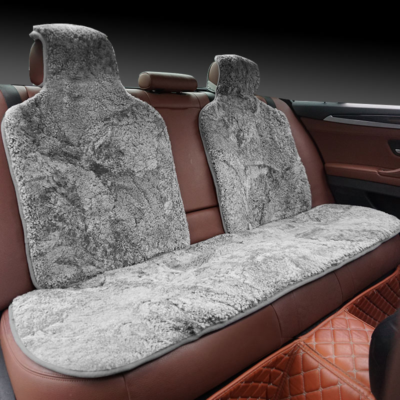 Image 5 - ROWNFUR Brand Universal Car Seat Covers Sheepskin Fur Seat Cushion 2 pc Car Front Seat Or 1 pc Back Seat Automobiles Accessories-in Automobiles Seat Covers from Automobiles & Motorcycles