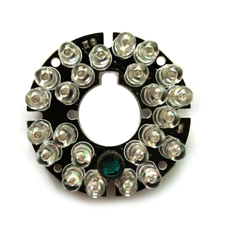 цена на Infrared 24 IR LED board for CCTV Security Cameras Night vision (diameter 45mm)