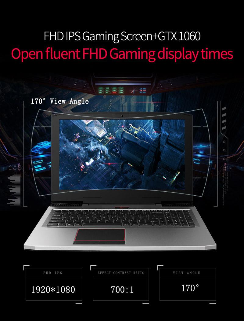 HTB1C77JbgvD8KJjy0Flq6ygBFXar - BBEN Laptop Nvidia GTX1060 GDDR5 Intel i7 Kabylake 8GB RAM M.2 SSD RGB Backlit Keyboard Win10 WiFi BT Gaming Computer 15.6'' IPS