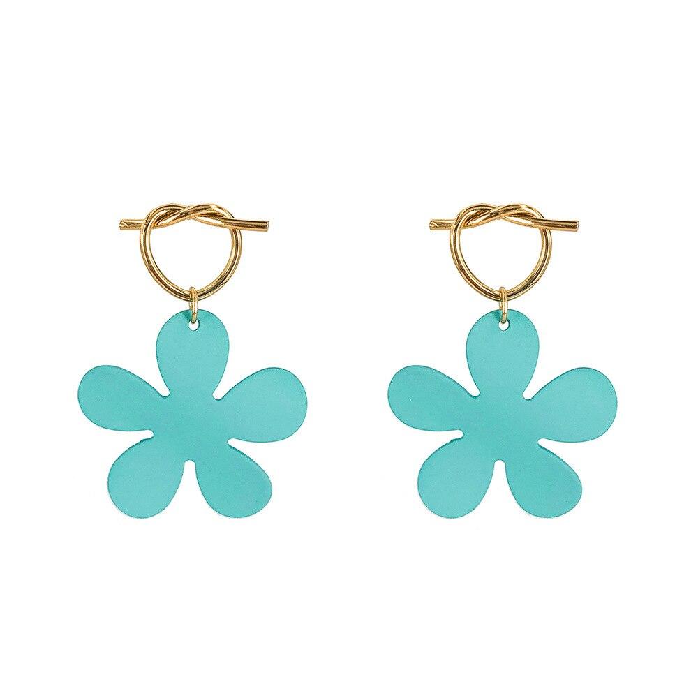 Korean Style Cute Flower Drop Earrings For Women 2019 New Fashion Sweet Earrings Femme Brinco Wholesale Jewelry in Drop Earrings from Jewelry Accessories