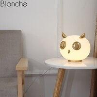 Nordic животных стекло настольные лампы для гостиная спальня кролик светодио дный LED настольная подставка светильники исследование современн