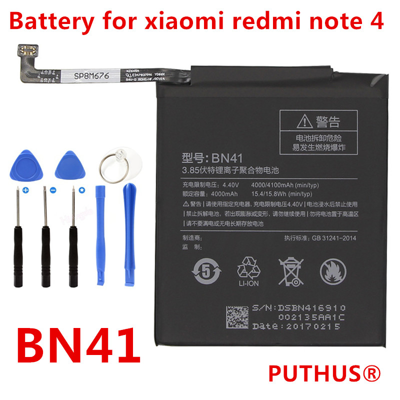 Cellphones & Telecommunications Mobile Phone Batteries Strong-Willed Original Phone Battery For Redmi Note 4 Battery Xiaomi Hongmi Note 4x Mtk Helio X20 Bn41 Replacement Batteries Red Rice Bateria