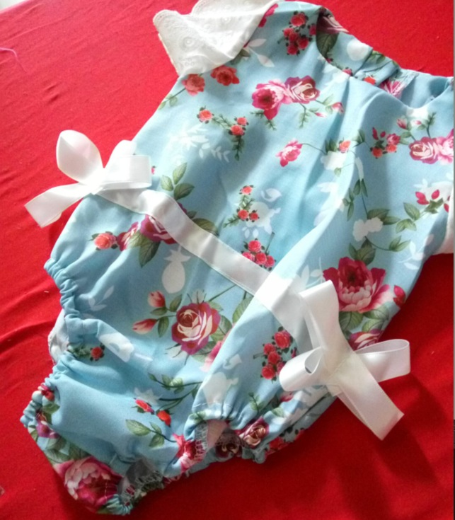Ebay Hot Girls Lace Print Bow Jumpsuit Climbing Clothes Newborn Baby