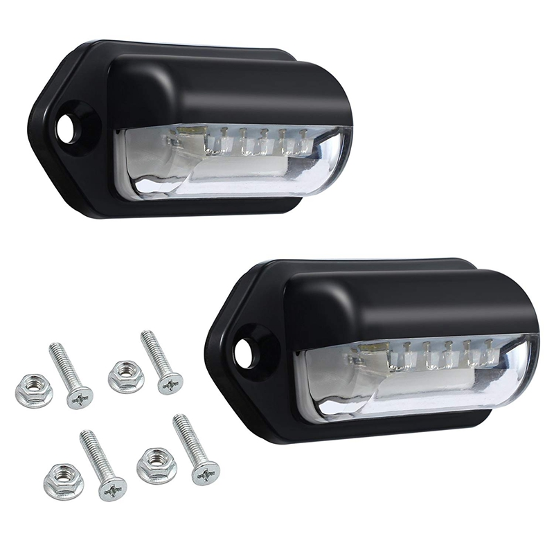Number Plate Lights Led License Plate Light Rear Lamps Universal 12v 24v For Car Trailer Vehicle Truck Ute Van Caravan Lorry B