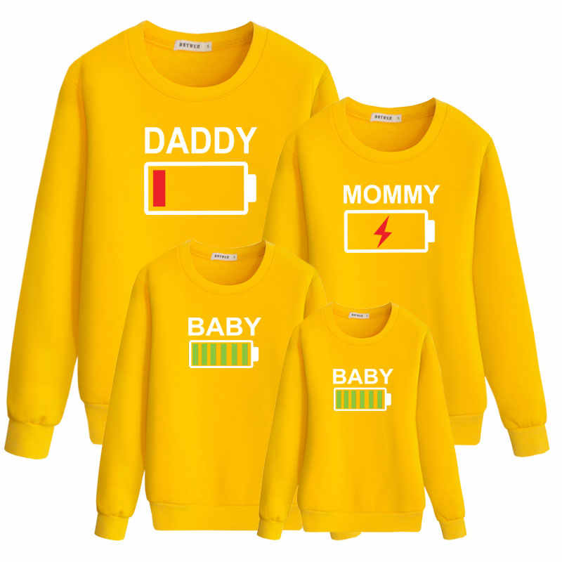 15f94b22f4 ... daddy mommy baby dress cute clothing for family hoody matching outfits  clothes dad mother daughter father ...