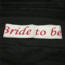 "1Pcs Pink ""bride to be"" Sashes"