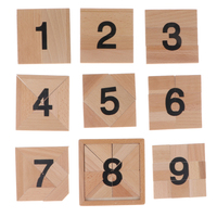 Montessori Math Material Wooden Fraction Board Number Jigsaw Game Kid Educational Toy Classroom Student Teaching Aids