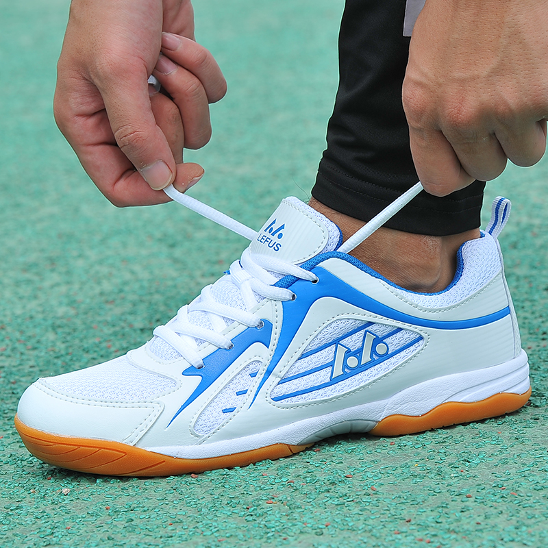 Unisex Table Tennis Shoes Spring Autumn Mens Mesh Indoor Sneakers Slip-On Women Trainers Shoes Breathable Tennis Table Shoes aldomour breathable volleyball shoes sneakers stability anti slip ping pong shoes breathable table tennis shoes volleyball shoes