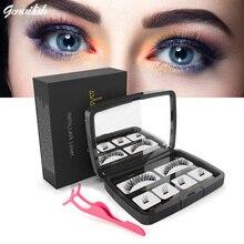 Genailish  Handmade Makeup Tool Eye Lashes Magnetic False Eyelashes Natural Long 6D Magnet Acrylic Box SCT-10