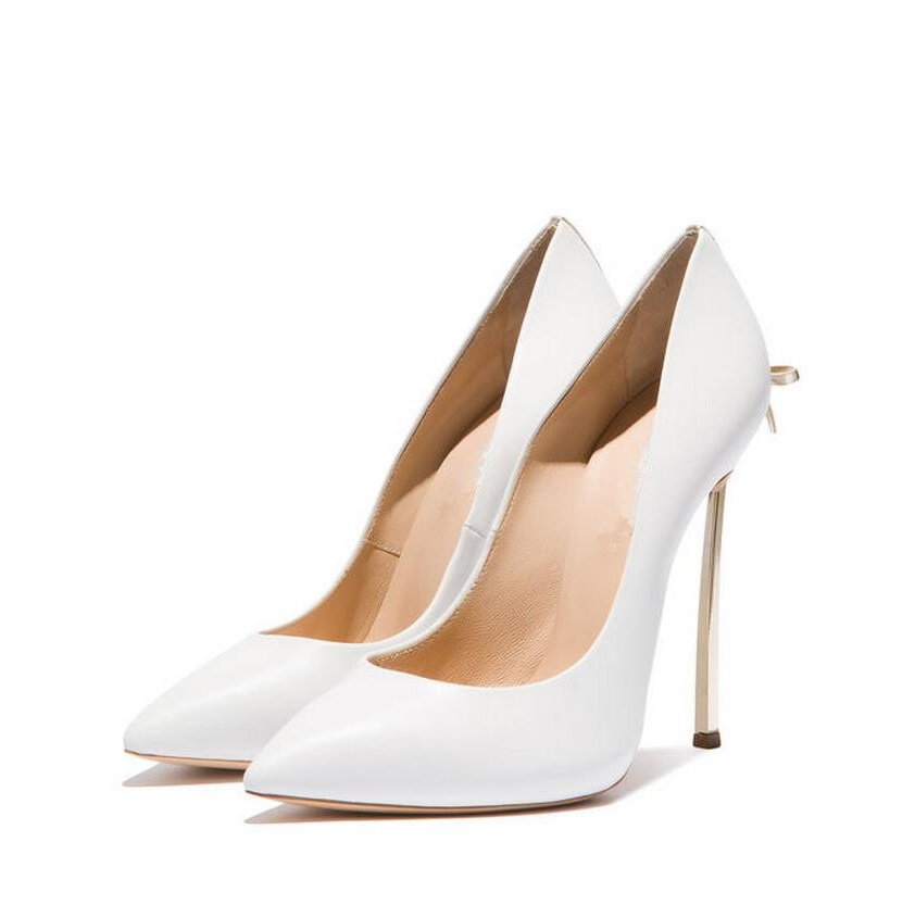 Newest Fashion High Heel Pumps Women White Pointed Toe Metal Heels Shoes Sexy Butterfly-knot Shallow Office Shoes цена и фото
