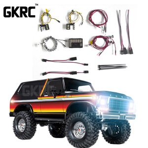 Image 1 - GKRC New Product  LED Light System Front & Rear Lamp Group for 1/10 RC Car Traxxas TRX4 Bronco Front and Back Headlights
