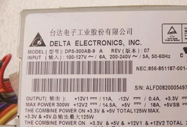 rated 300W M-ATX SFX DPS-300AB-9 A active Power Supply dps 300ab 58b dps 300ab 58 b power supply 90