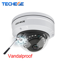 Techege H 265 5MP 2592 1944 Vandalproof IP Camera Surveillance Video Dome Camera 5MP 3MP 2MP