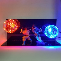 Dragon Ball Vegeta Goku Kamehameha Lamp Led Lighting Dragon Ball Z Led Night Light Bulb Desk Lamp For Bedroom Christmas Gift