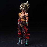 Anime Dragon Ball Z Son Goku PVC Action Figures Brinquedos DragonBall Super Saiyan Goku Figurine Collectible Model Toys 13.38''