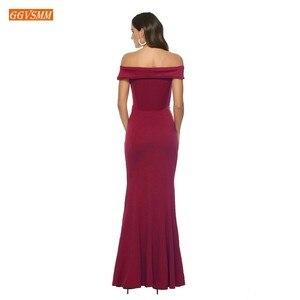Image 4 - Fashion Burgundy Mermaid Bridesmaid Dresses Long 2020 Cheap Wedding Party Gowns Elastic Satin Floor Length Pageant Women Dress