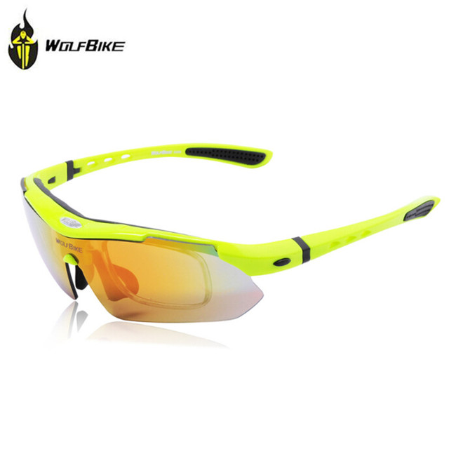 WOLFBIKE BYJ-013 - Occhiali da ciclismo, colore: nero