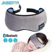 Jinserta 2020 Draadloze Stereo Bluetooth Oortelefoon Slaap Masker Telefoon Hoofdband Slaap Zachte Oordopjes Slapen Oogmasker Muziek Headset