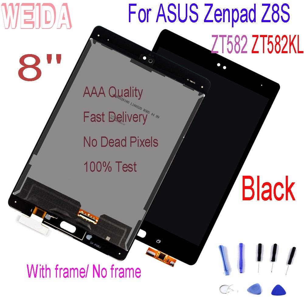 WEIDA 8 ''pour ASUS Zenpad Z8S tablette ZT582KL ZT582 LCD écran tactile écran numériseur assemblée avec cadre avec outils