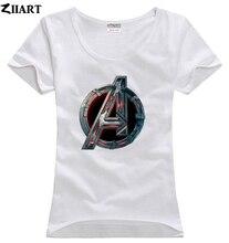 Avengers 2 Age of Ultron Logo couple clothes girl woman female o-neck cotton short-sleeve T-shirt