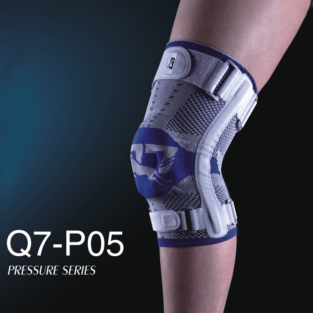 Q7 brand sports knee pad P05 basketball volleyball elastic rubber anti-collision knee Pads light gray and blue knee Pads support игрушка ecx ruckus gray blue ecx00013t1