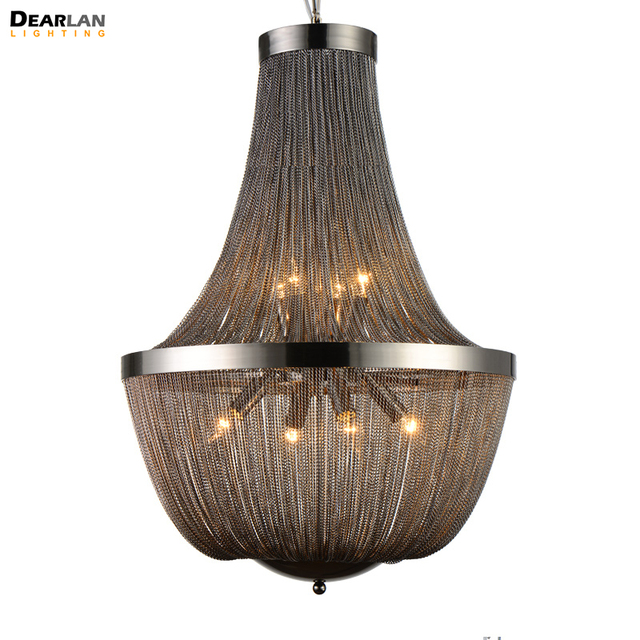 Post Modern cadena francesa lámpara imperio de la vendimia colgante imperio suspensión Lustre lámpara