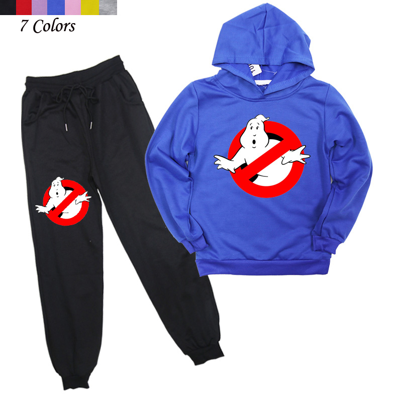New arrival 2019 Children Ghostbuster Clothes 2Pcs Kids Clothing Casual Trousers And Sweatshirts Boys Pants And HoodiesClothing Sets   -