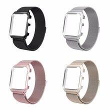 Joyozy Bande De Remplacement pour Apple Montre 42mm Série 2/1 Sport Édition, nouveau Maillage Serrure Magnétique Bracelet En Acier Inoxydable bande
