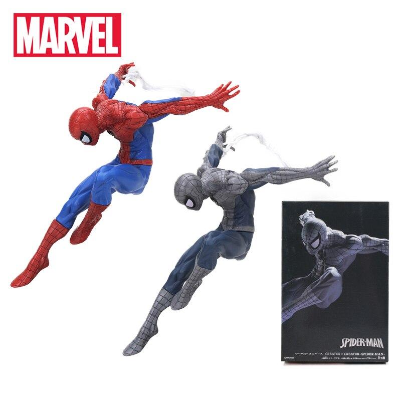 18cm Marvel font b Toys b font The Avengers Superhero Amazing Spiderman PVC font b Action
