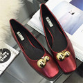 Luxury Brand Designer Women Ballet Flats High Quality Solid Spring Square Toe Women Flat Shoes TPR Shoes D96 35