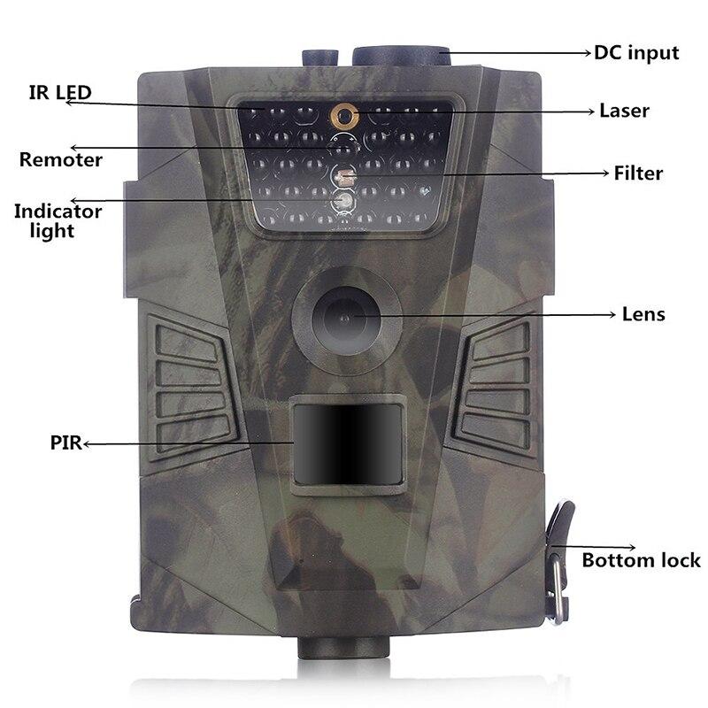 HT-001 chasse sauvage caméra caméra de sentier 12MP Photo pièges infrarouge Vision nocturne pièges de chasse faune caméra chasseur chasse