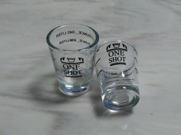 2pcs Stainless Bar Jigger Whiskey Bartender Drink Mixing Measuring Liquor