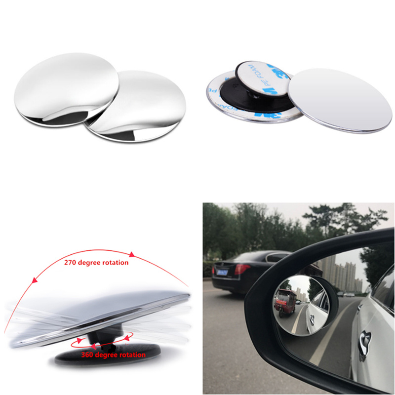 Universal 2pcs Car 360 degree Wide Angle small Round Mirror Rear View Mirror for Audi TT TTS RS3 RS4 RS5 RS6