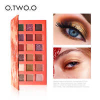 O.TWO.O Eye Shadow Matte Shimmer Pigment Powder 18 Colors Long Lasting Makeup Brown Purple Eyeshadow Make Up Palette New Arrival