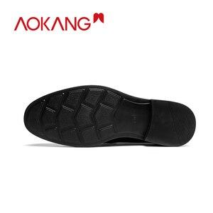 Image 3 - AOKANG 2019 moda biznes sukienka męskie buty eleganckie formalne buty ślubne mężczyźni Slip On chaussures hommes en cuir