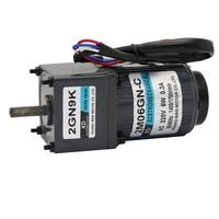 220V AC gear motor, 6W high torque, one way low speed micro motor, 2I/RK6GN C CW/CCW AC gear motor