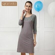 2016 rushed new pyjamas women qianxiu lingerie casual nightgown long-sleeve nightskirt modal pajamas
