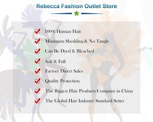 Image 5 - Rebecca düz saç demetleri fırsatlar perulu 100% insan saçı örgüsü demetleri 8 ila 28 inç düz insan saçı postiş