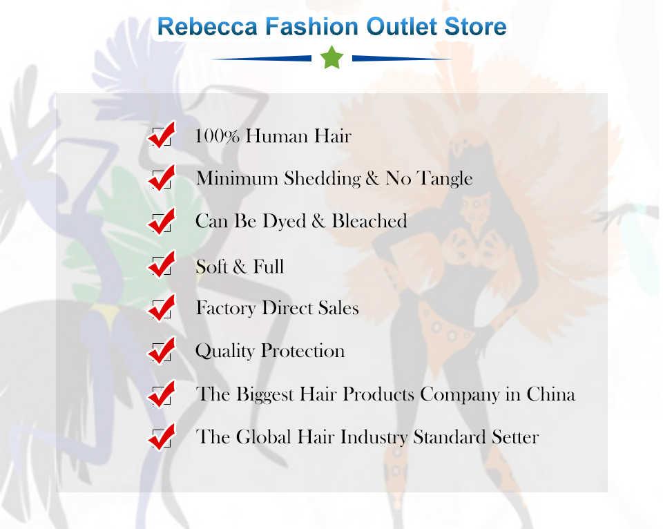 Rebecca pelo recto mechones se peruano 100% mechones de cabello humano postizo 8 a 28 pulgadas extensiones de cabello humano recto