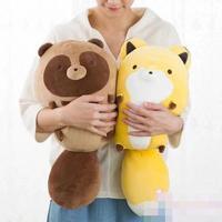 Candice guo plush toy stuffed doll cartoon animal fox palm civet Raccoon dog pillow cushion christmas present birthday gift 1pc