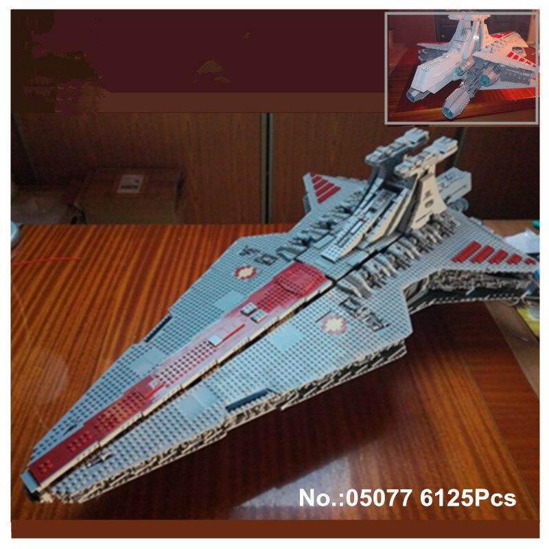 H & HXY en STOCK 05077 6125 piezas estrella la UCS república destructor wars crucero ST04 conjunto edificio lepin bloques ladrillos Juguetes