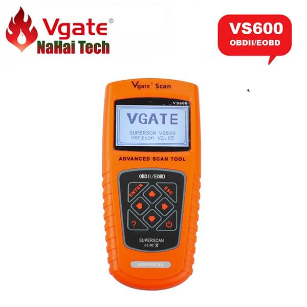 Цена за 100% Оригинал VGATE СКАНИРОВАНИЯ VS600 для Всех OBDII OBD2 Автомобилей EOBD OBD МОЖЕТ Code Reader VGATESCAN VS 600 Автомобильный Диагностический-инструмент