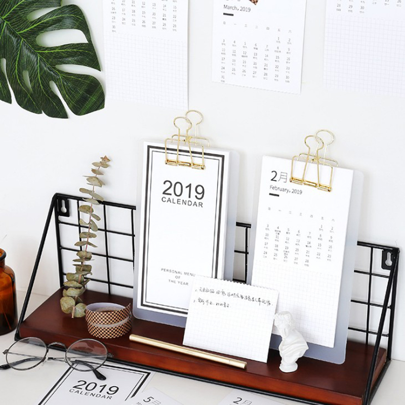 Smart Creative Simple 2019 Menu Calendar Table Desktop Calendar Agenda Organizer Daily Schedule Planner 2018.07~2019.12 Fixing Prices According To Quality Of Products Calendars, Planners & Cards Office & School Supplies